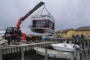 Søsætning af husbåd